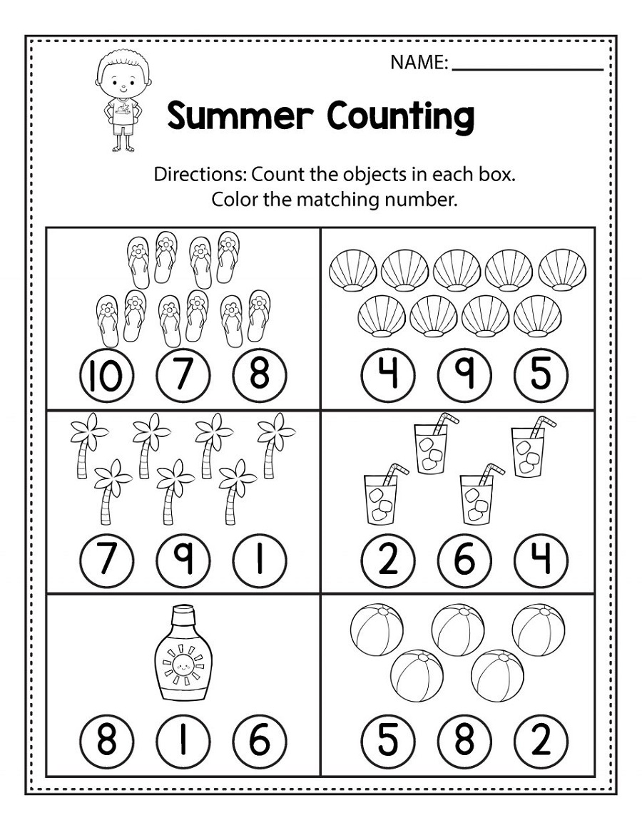 Free Math Sheets Counting