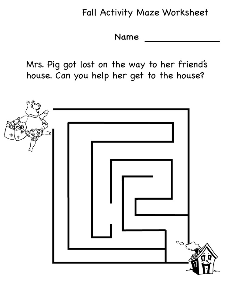 Fun Activity Pages For Kids Maze