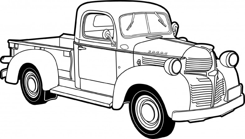 Little Blue Truck Coloring Pages Free