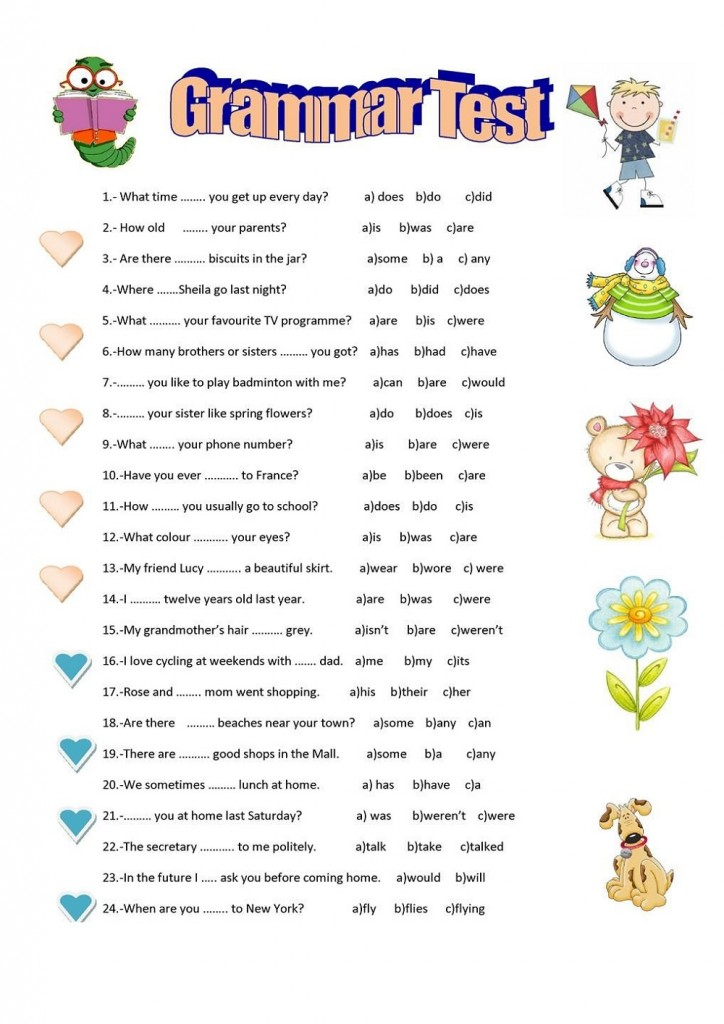 Printable Activities For 8 Year Olds Grammar