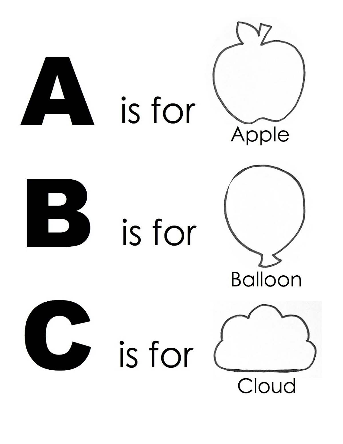 ABC Printables for Kids