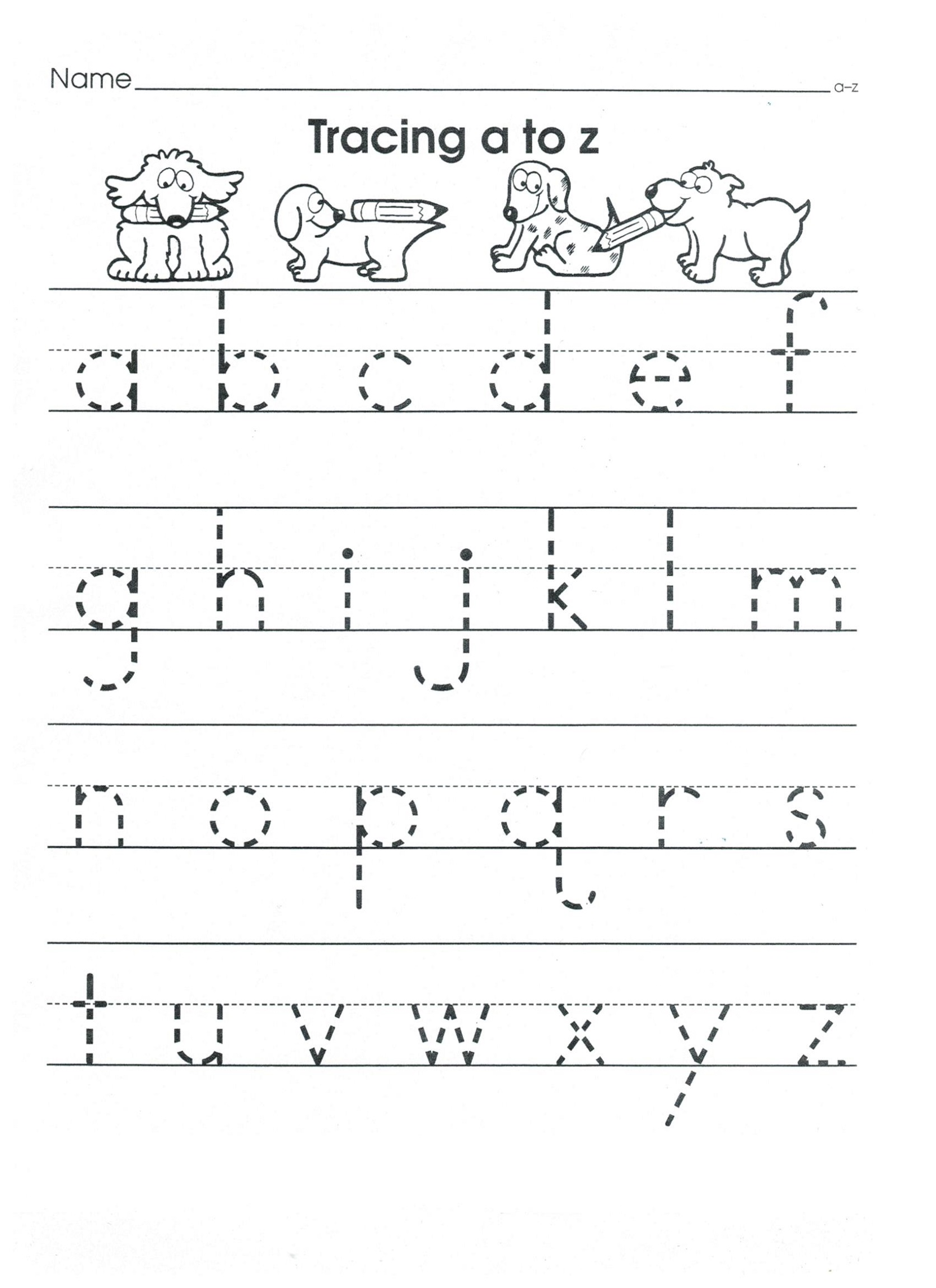 ABC Tracing Sheets for Preschool | 101 Activity