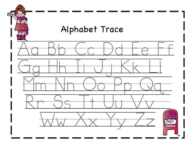 Abc Tracing Sheets for Preschool