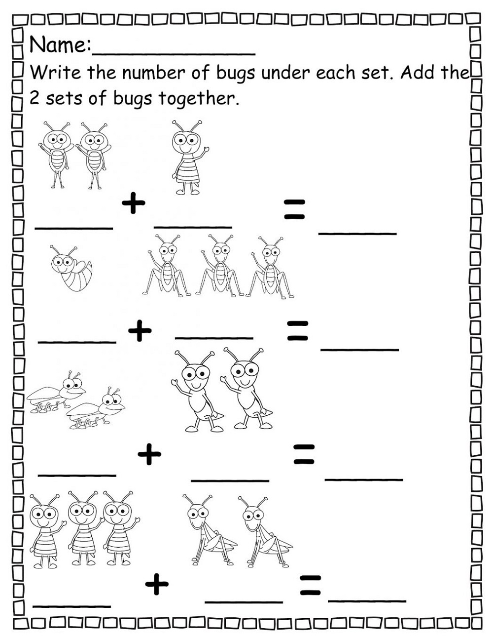 Addition Worksheets With Pictures Free