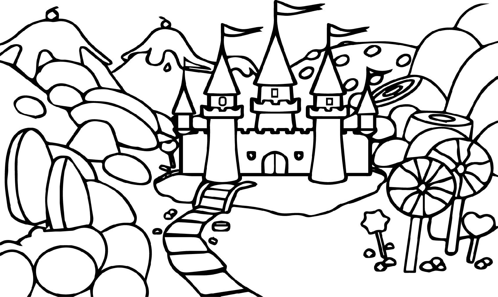 Candyland Coloring Pages Cartoon