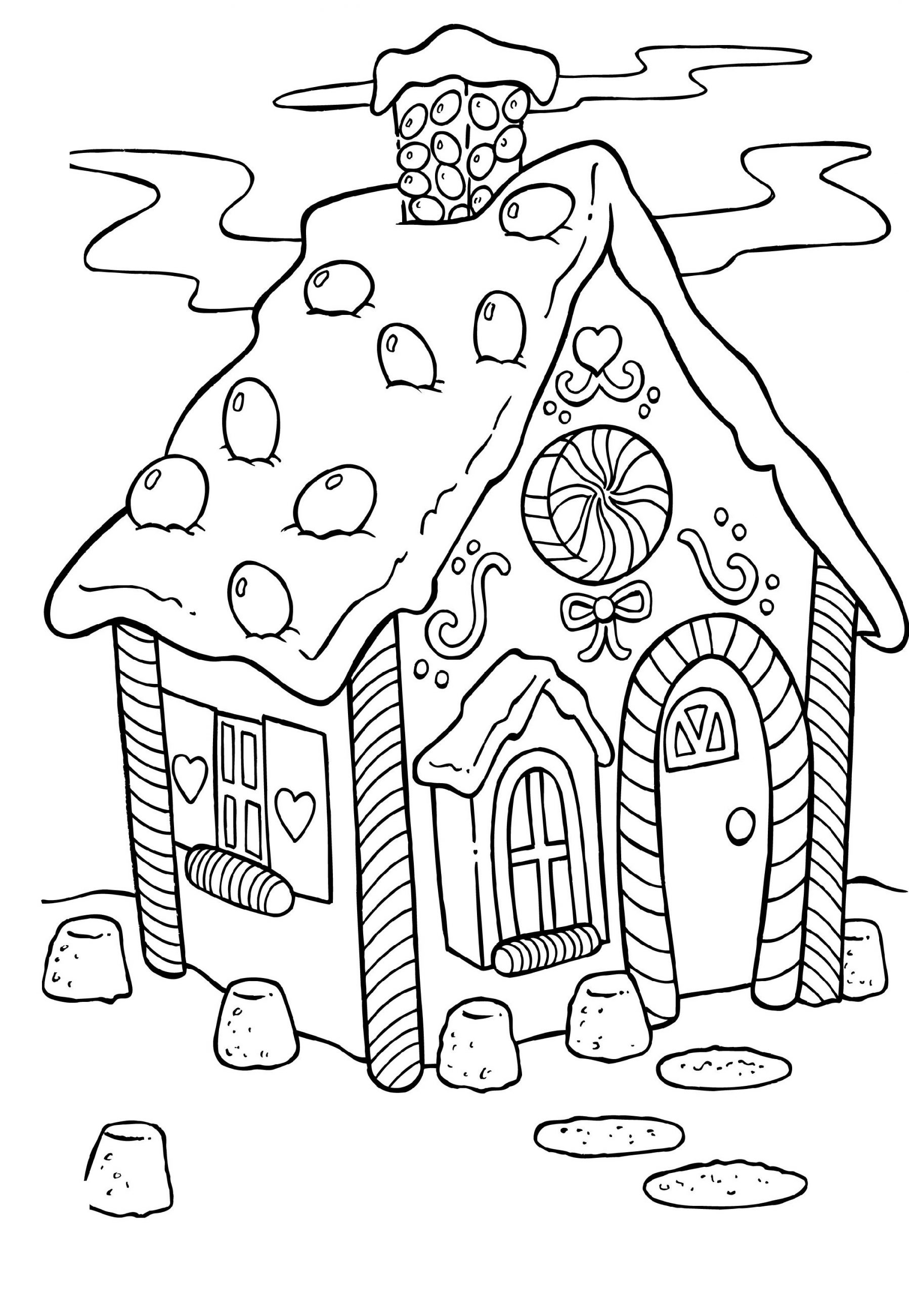 Candyland Coloring Pages Christmas