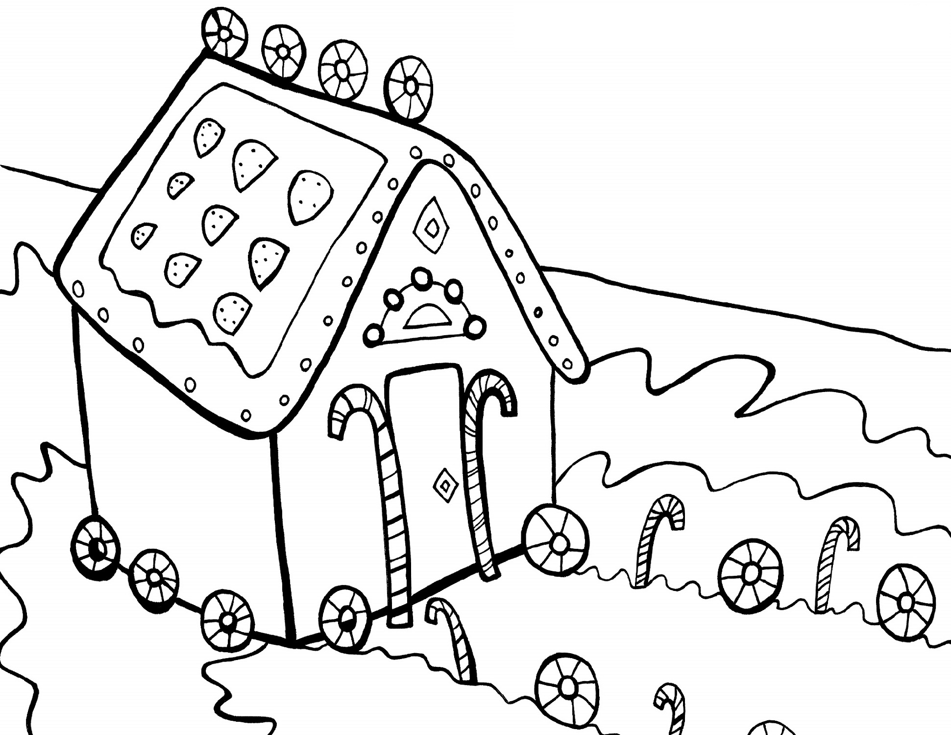 Candyland Coloring Pages Free