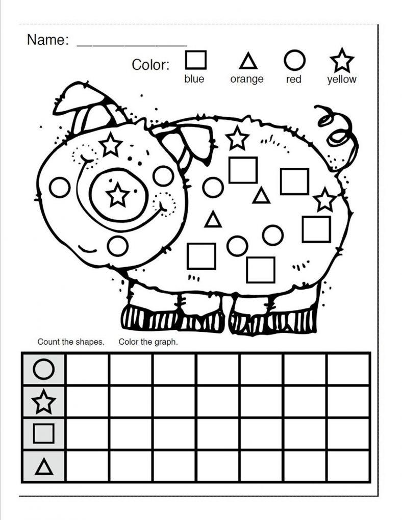 Color By Shape Worksheet Free