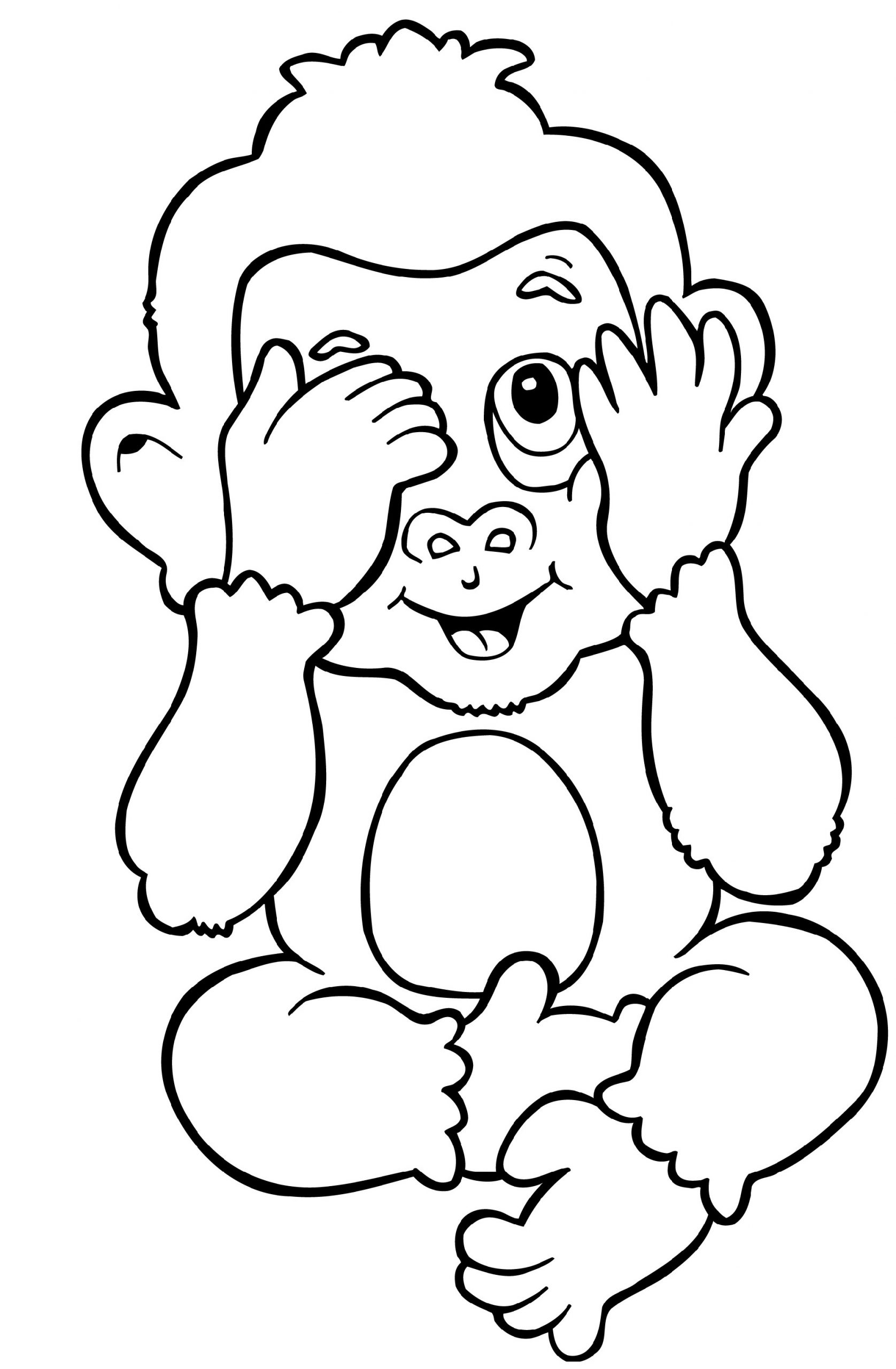 Coloring Pages of Monkeys Baby