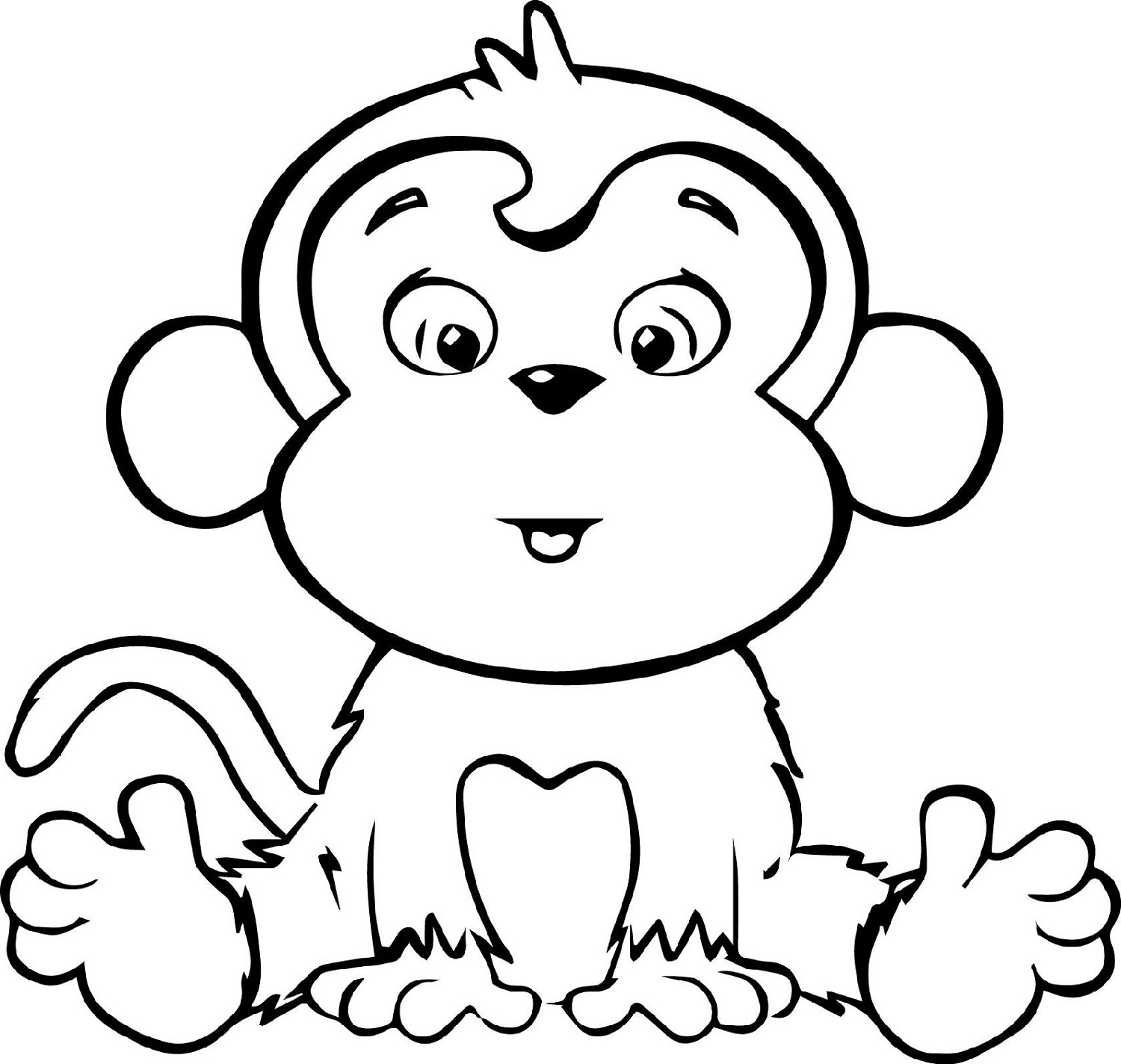 Cute Coloring Pages of Monkeys