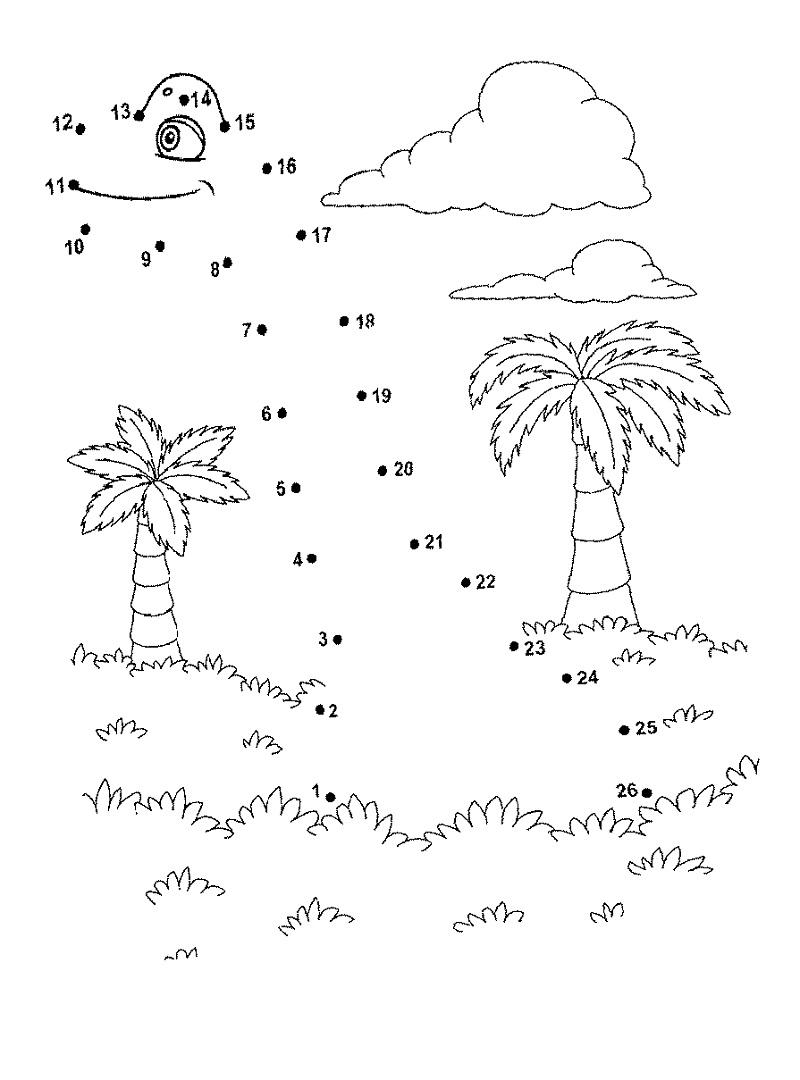 Dinosaur Dot To Dot For Kids