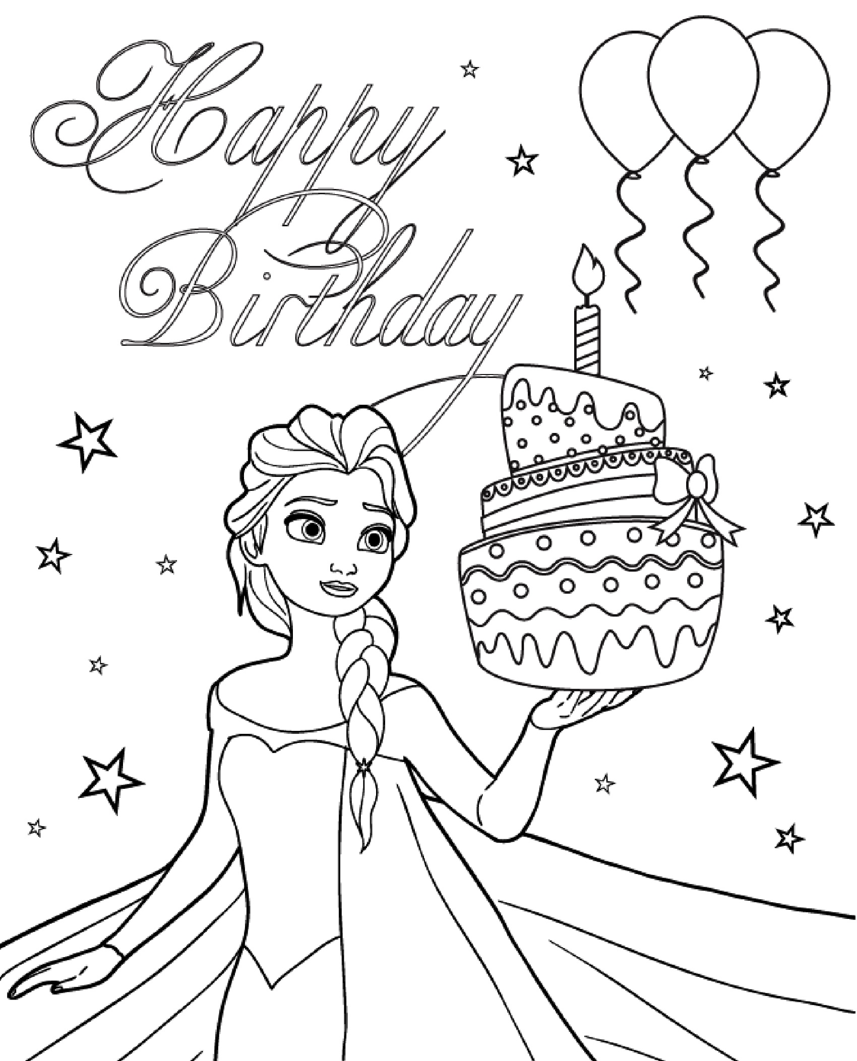 Printable Birthday Card Coloring Pages | 101 Activity