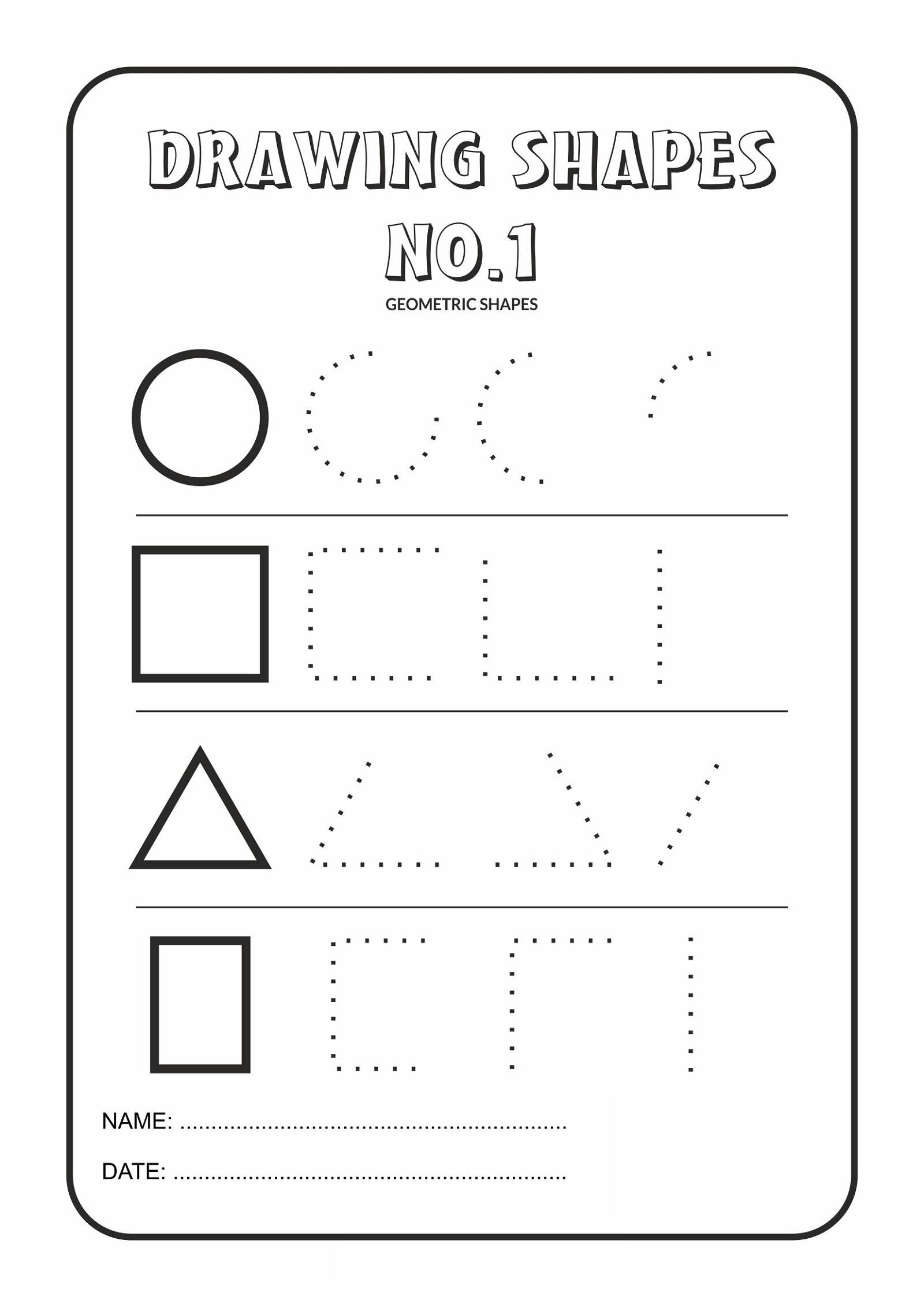 Drawing Basic Shapes Worksheets