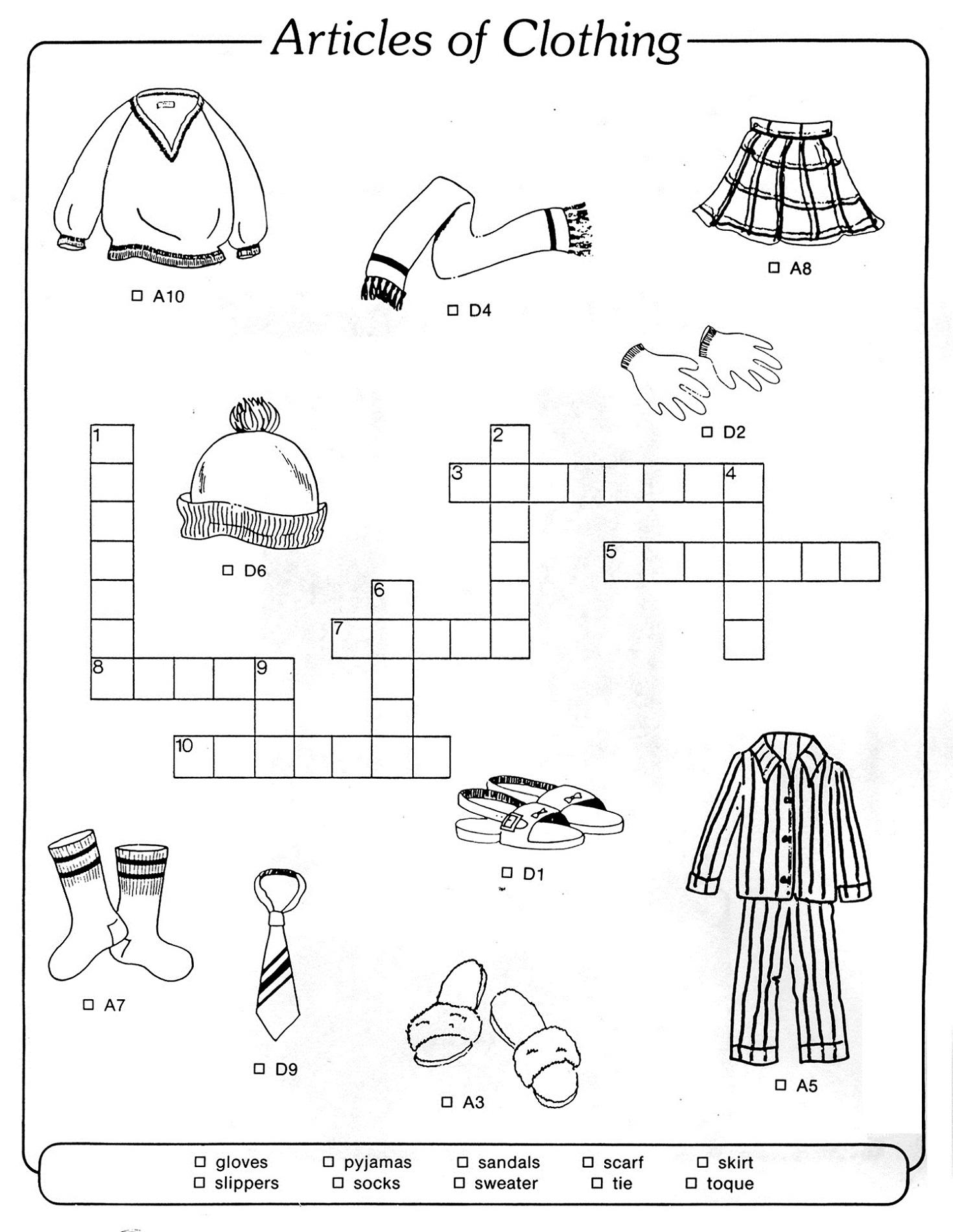 Easy Crosswords for Kids