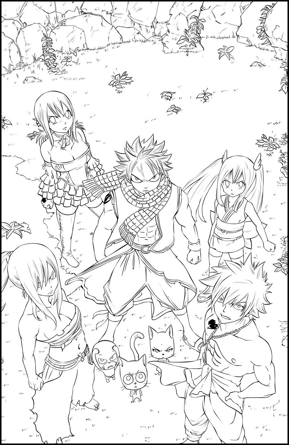 Fairy Tail Color Pages Anime