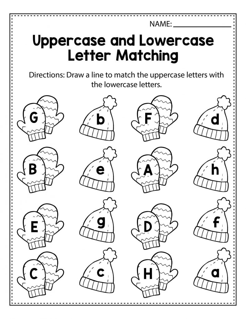 Matching Lowercase Letter Worksheets