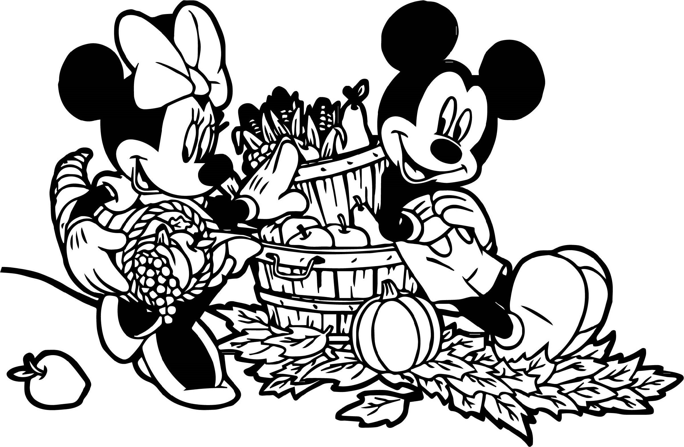 Mickey Mouse Fall Color Pages