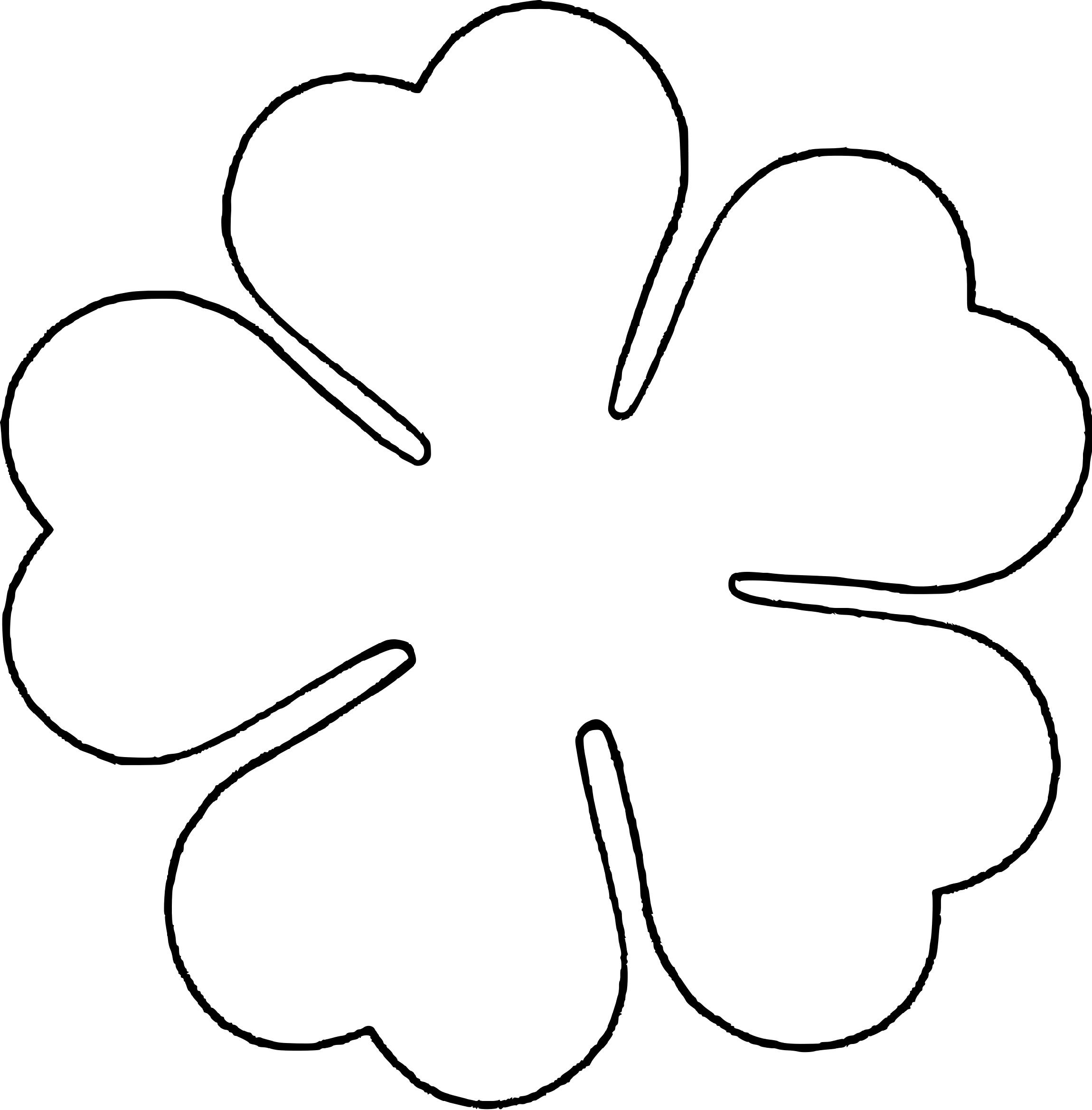 5 Petal Flower Template Pattern