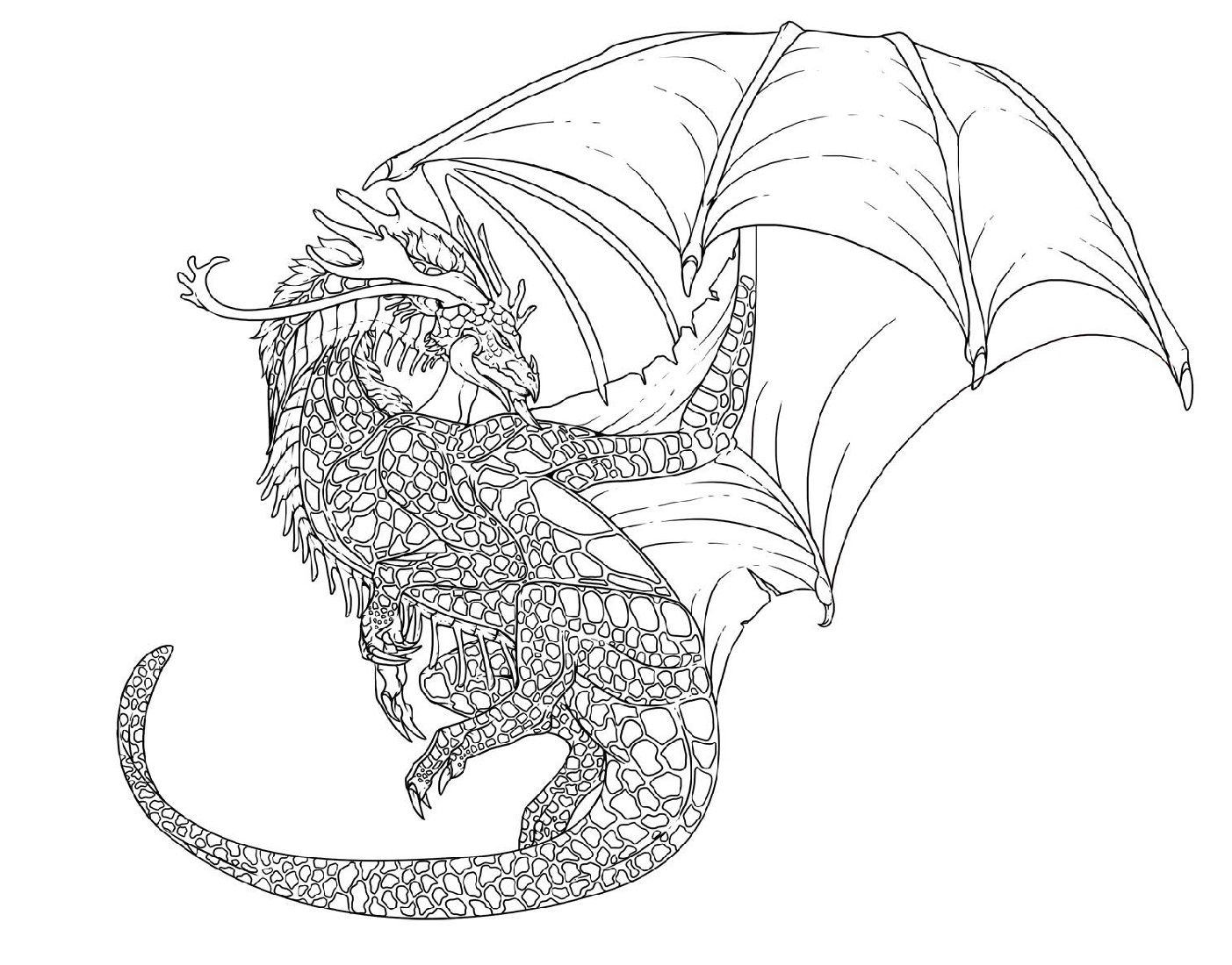 Awesome Dragon Coloring Pages