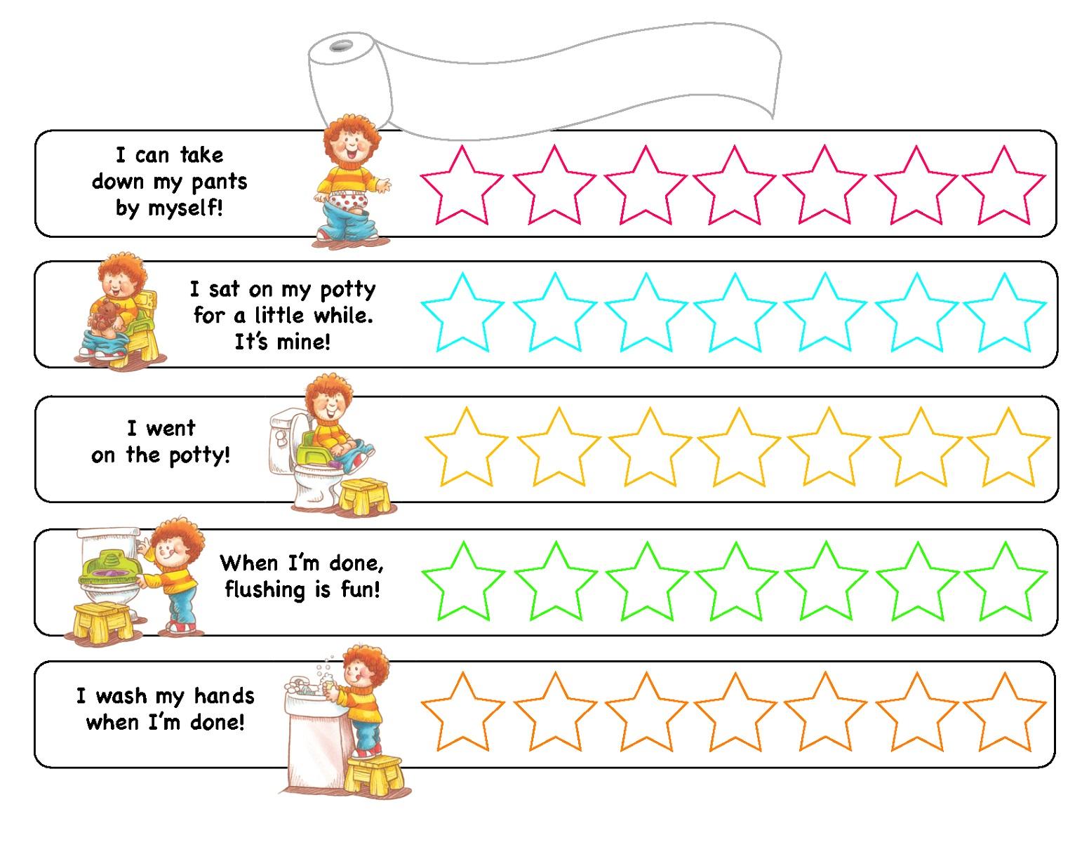 Classroom Potty Chart