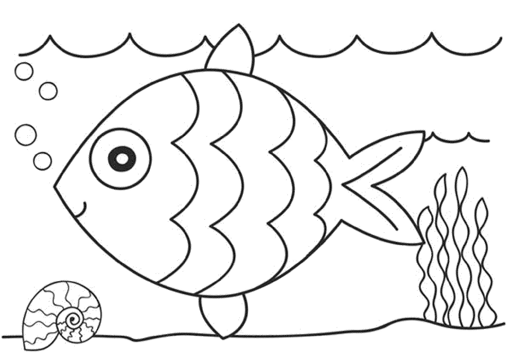 Color Pages of Fish for Kids