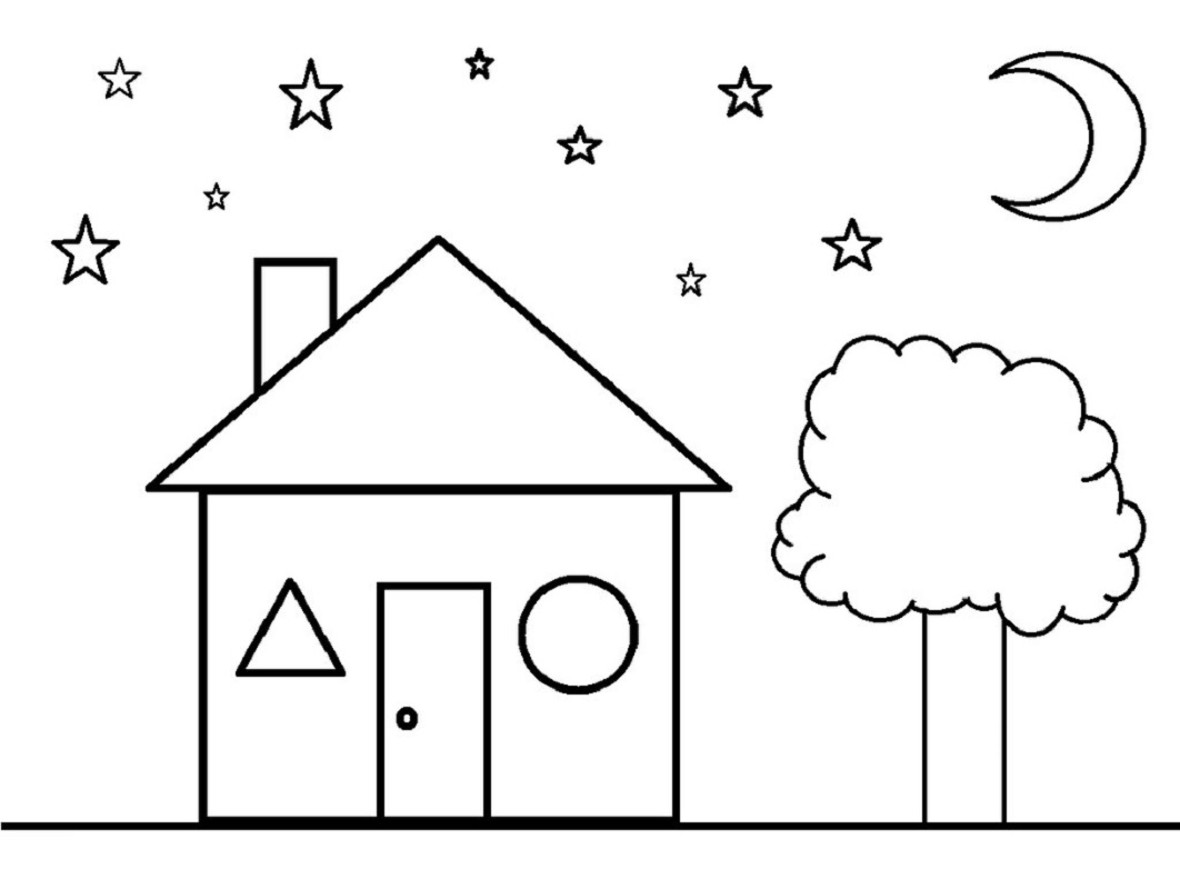 Color The Shapes Worksheet for Preschool