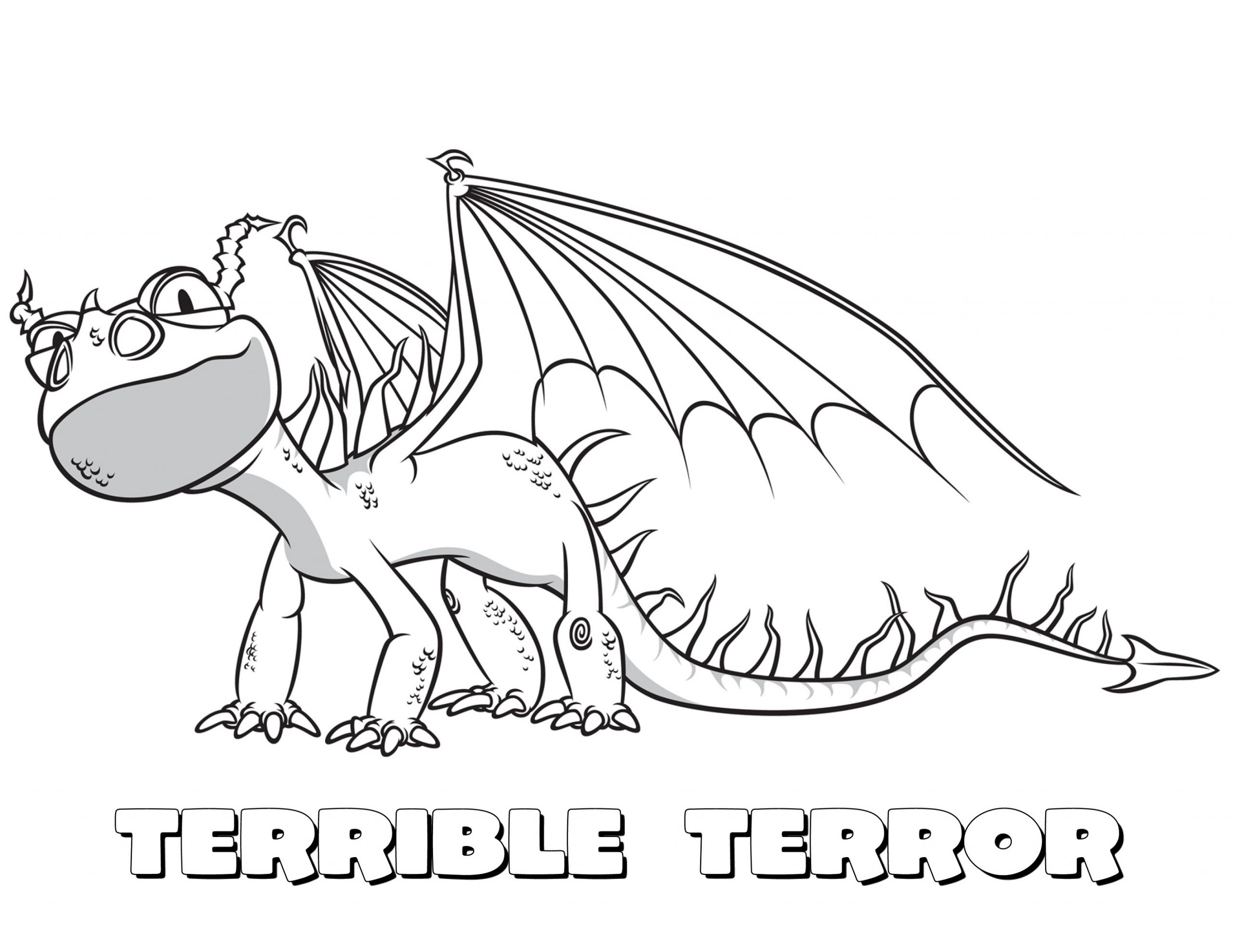 Dragon Coloring Pages Cartoon