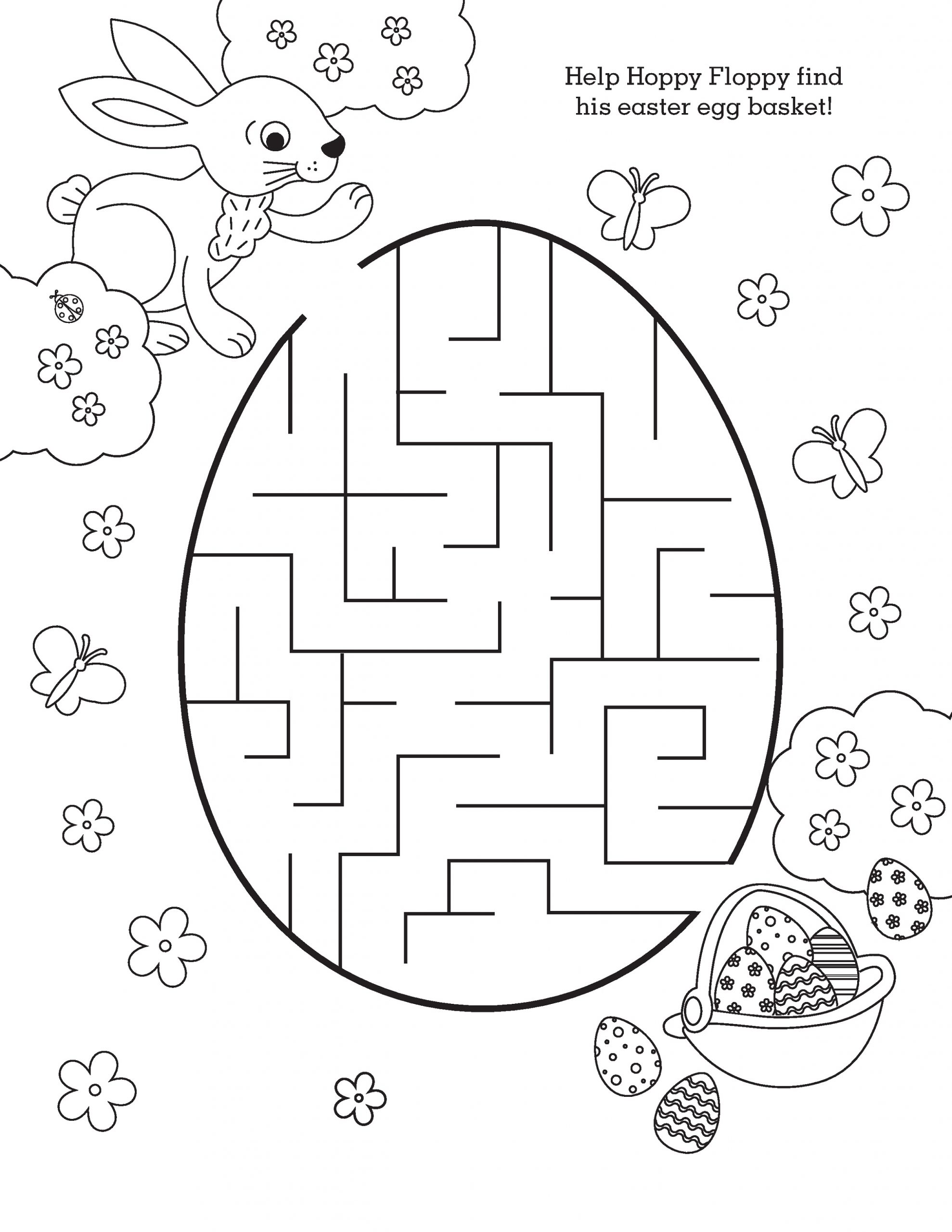 Easter Maze for Kids