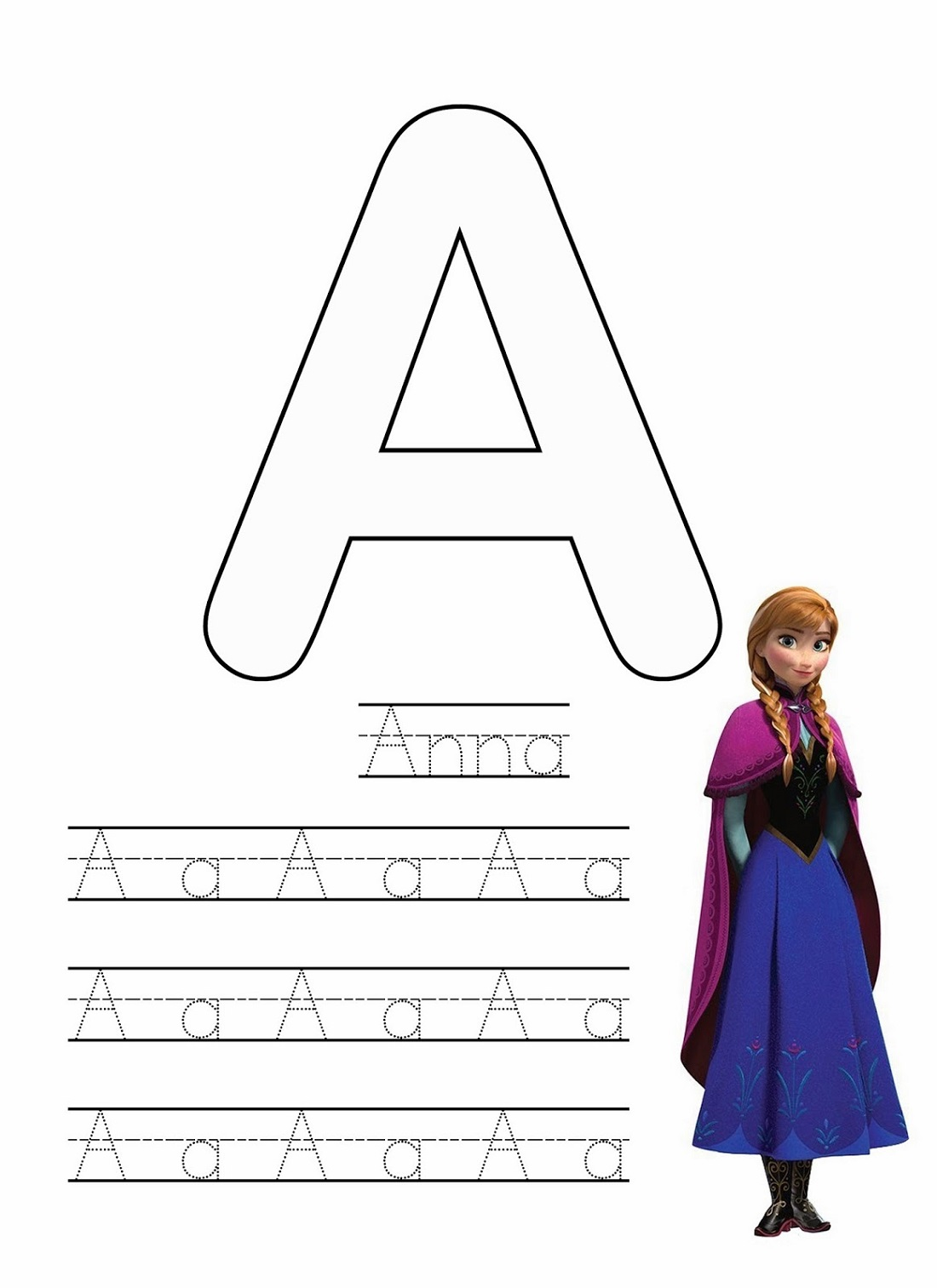 Frozen Worksheets Alphabet
