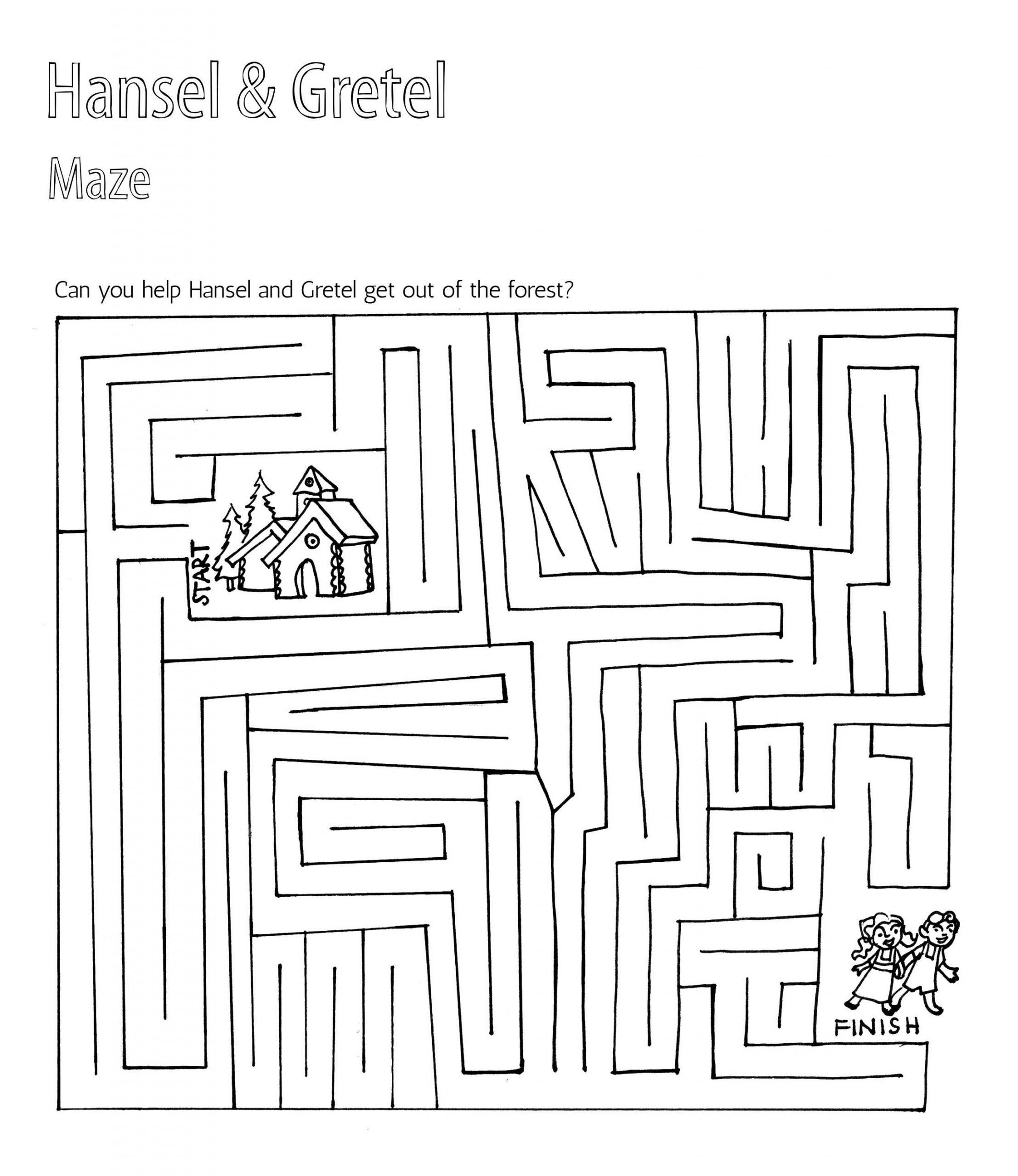 Hansel and Gretel Activities Maze