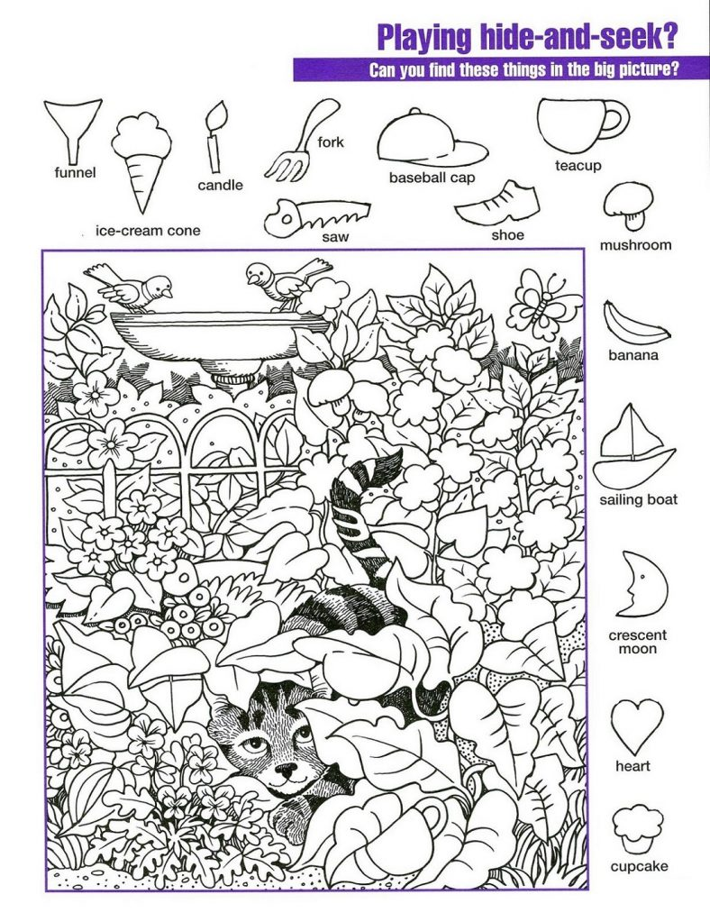 Hidden Pictures Worksheets for Kids
