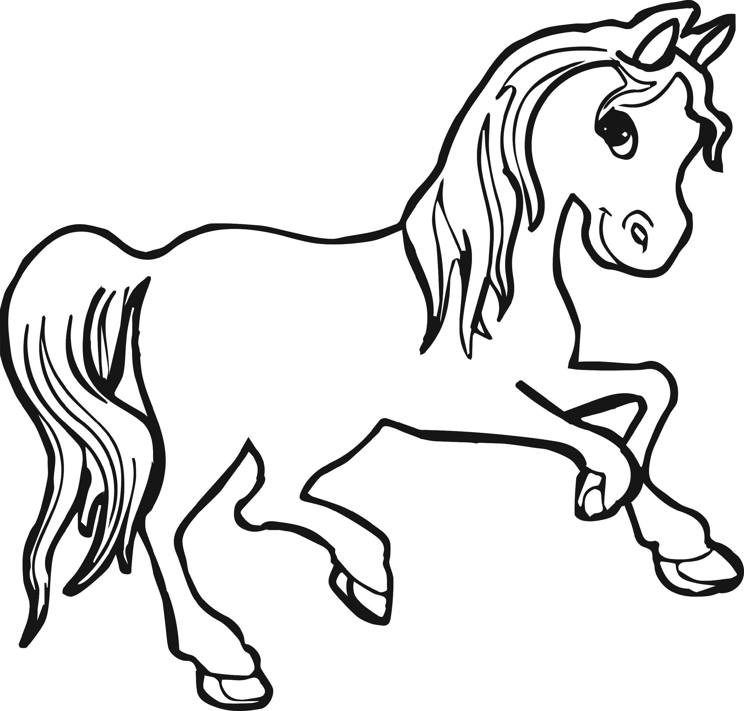 Horse Color Pages for Kids