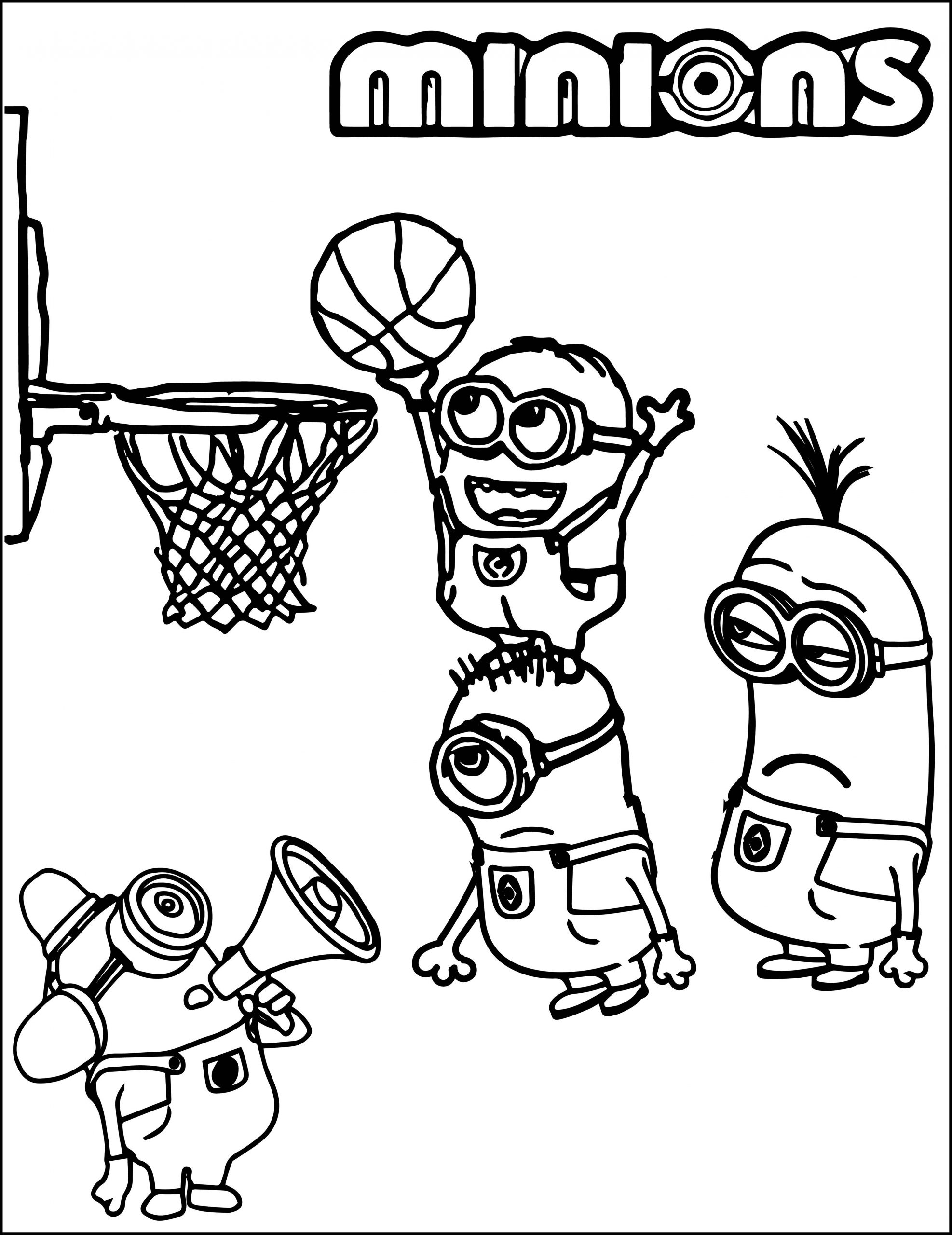 Minion Basketball Color Pages