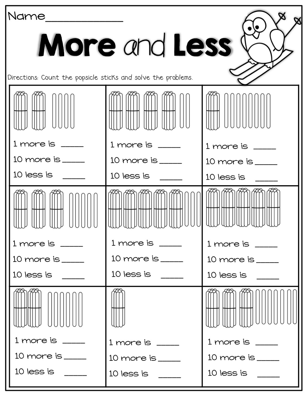 More Or Less Worksheets With Pictures