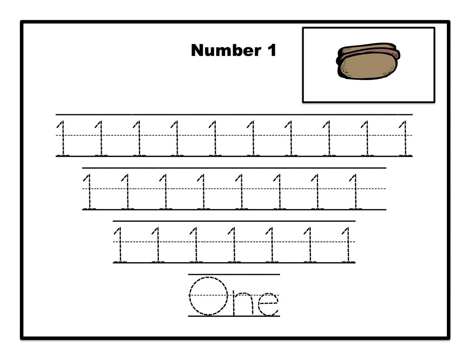 Number Trace Worksheets Easy