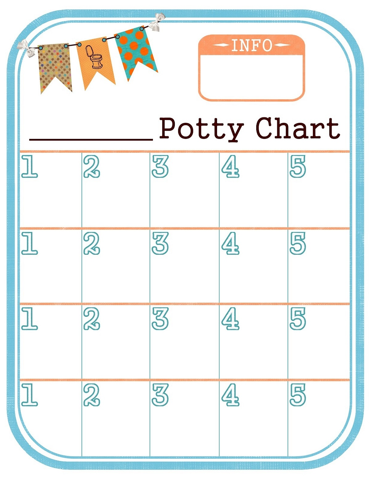 Printable Potty Chart