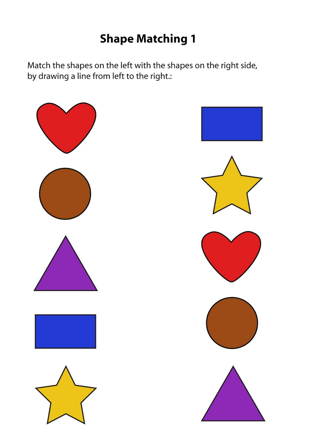 Same Different Worksheets Shapes