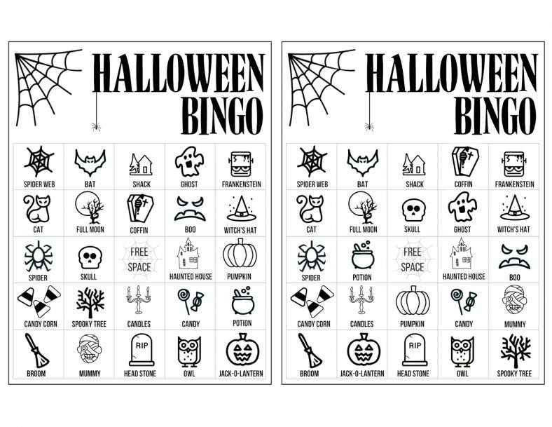 Bingo Halloween Activities for Kids