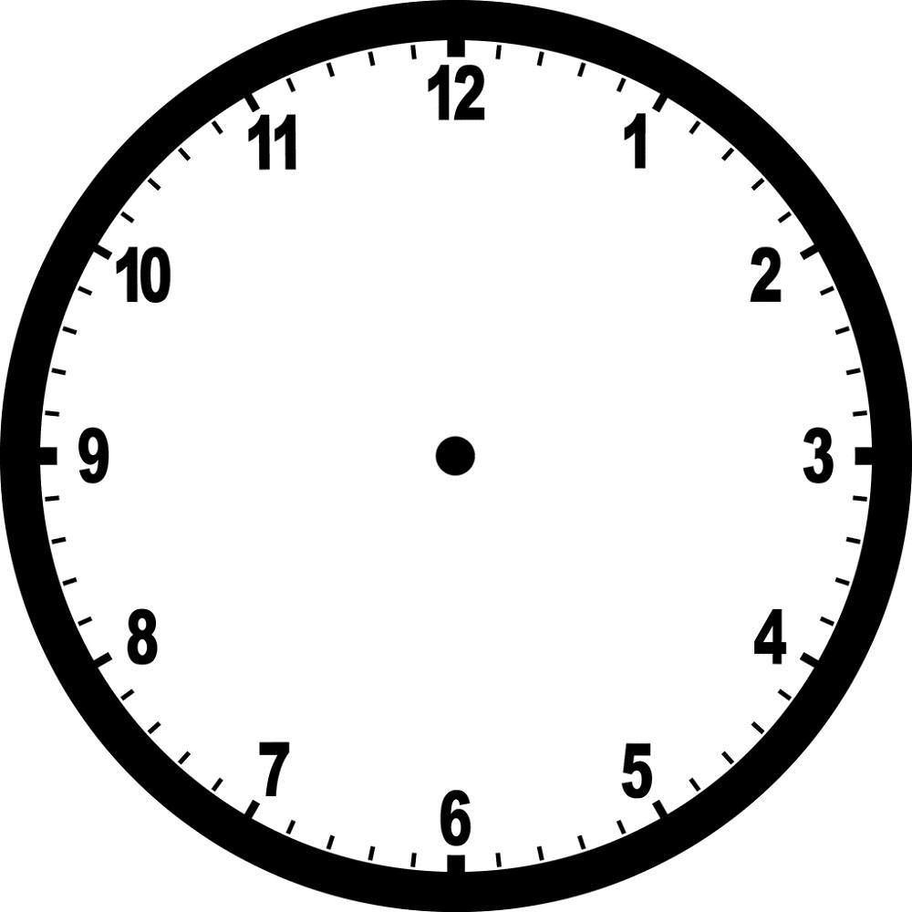 Blank Printable Clock
