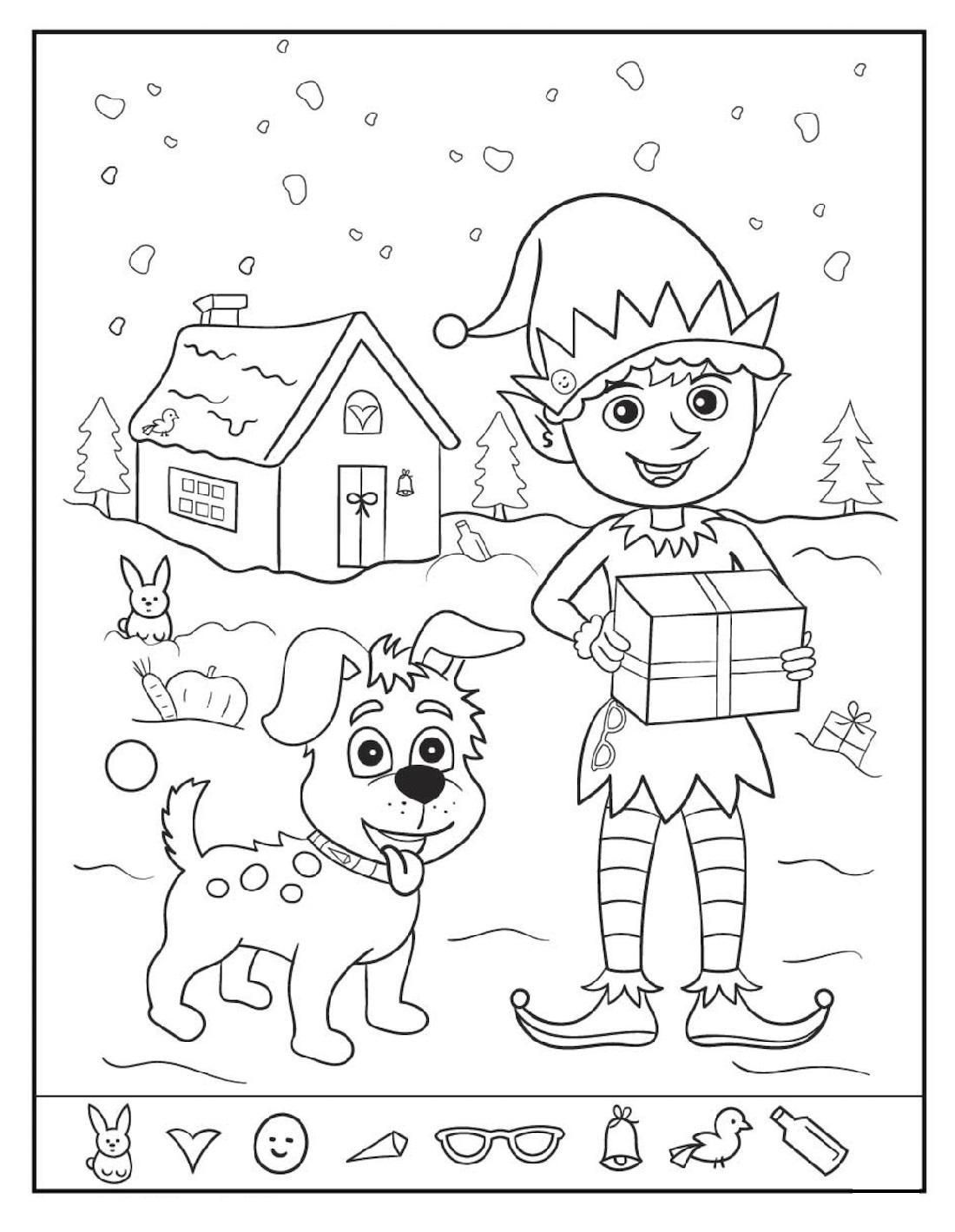 Christmas Hidden Pictures Worksheet