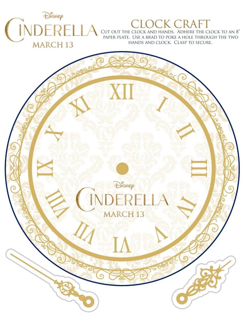Disney Printable Clock