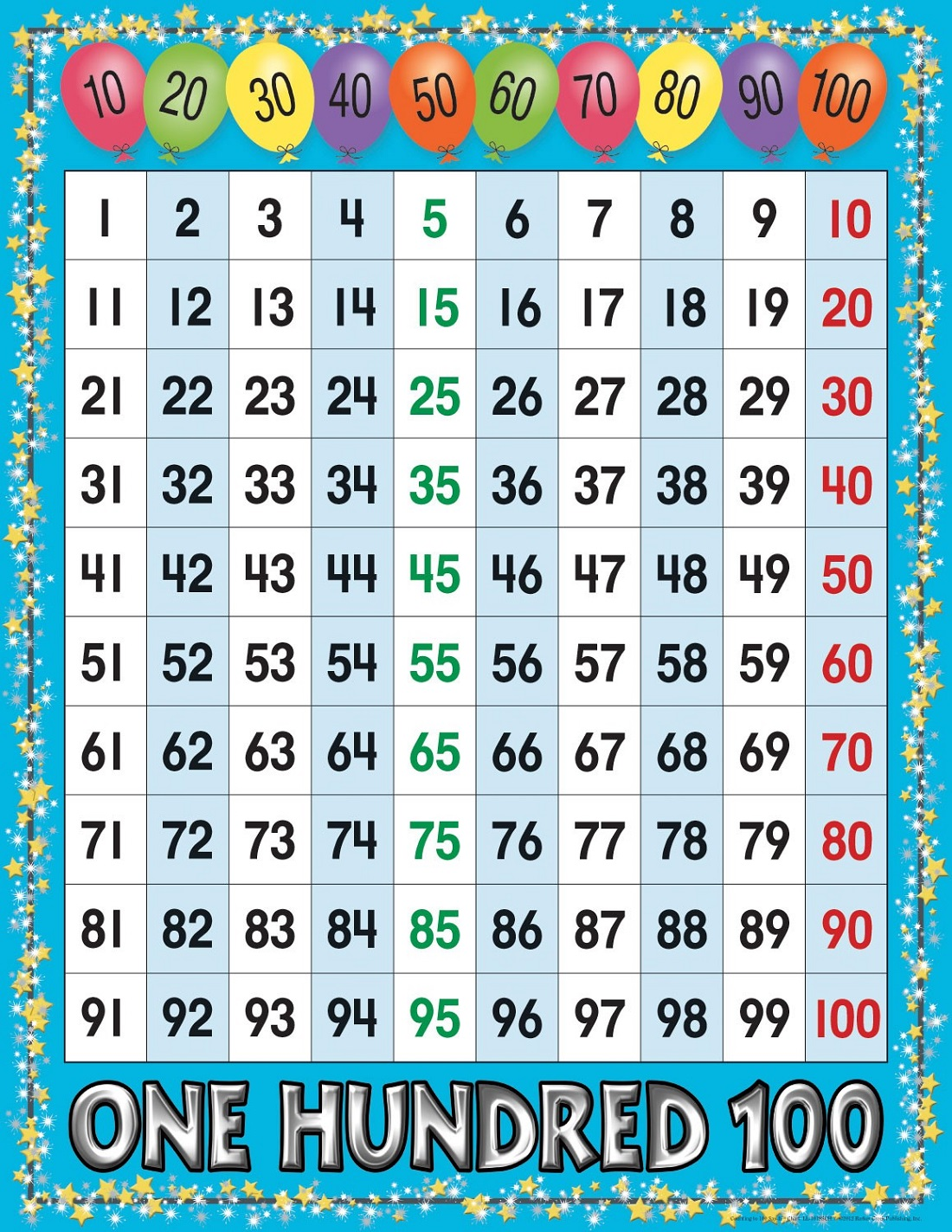 Fun Number Sheets 1-100