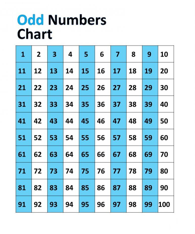 Fun Odd Numbers Chart