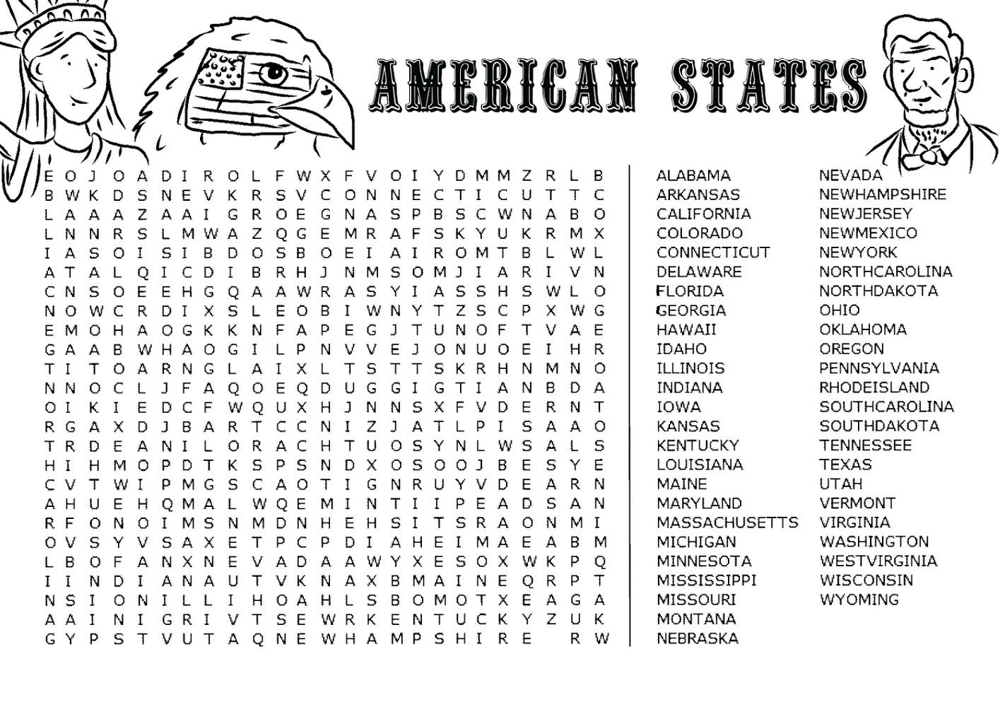 Jumbo Word Search to Print