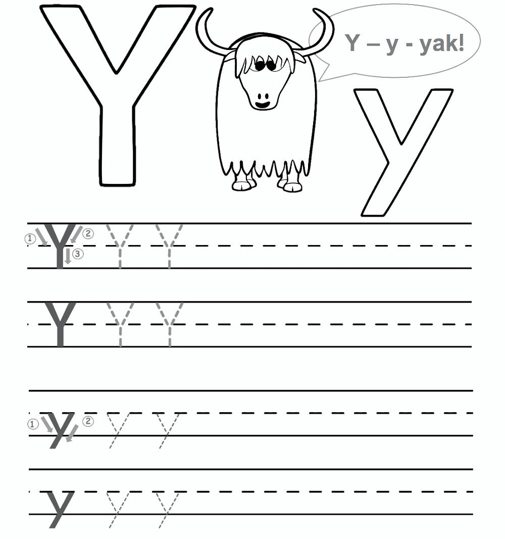 - Preschool Worksheet Gallery: Letter Y Worksheets For Preschool