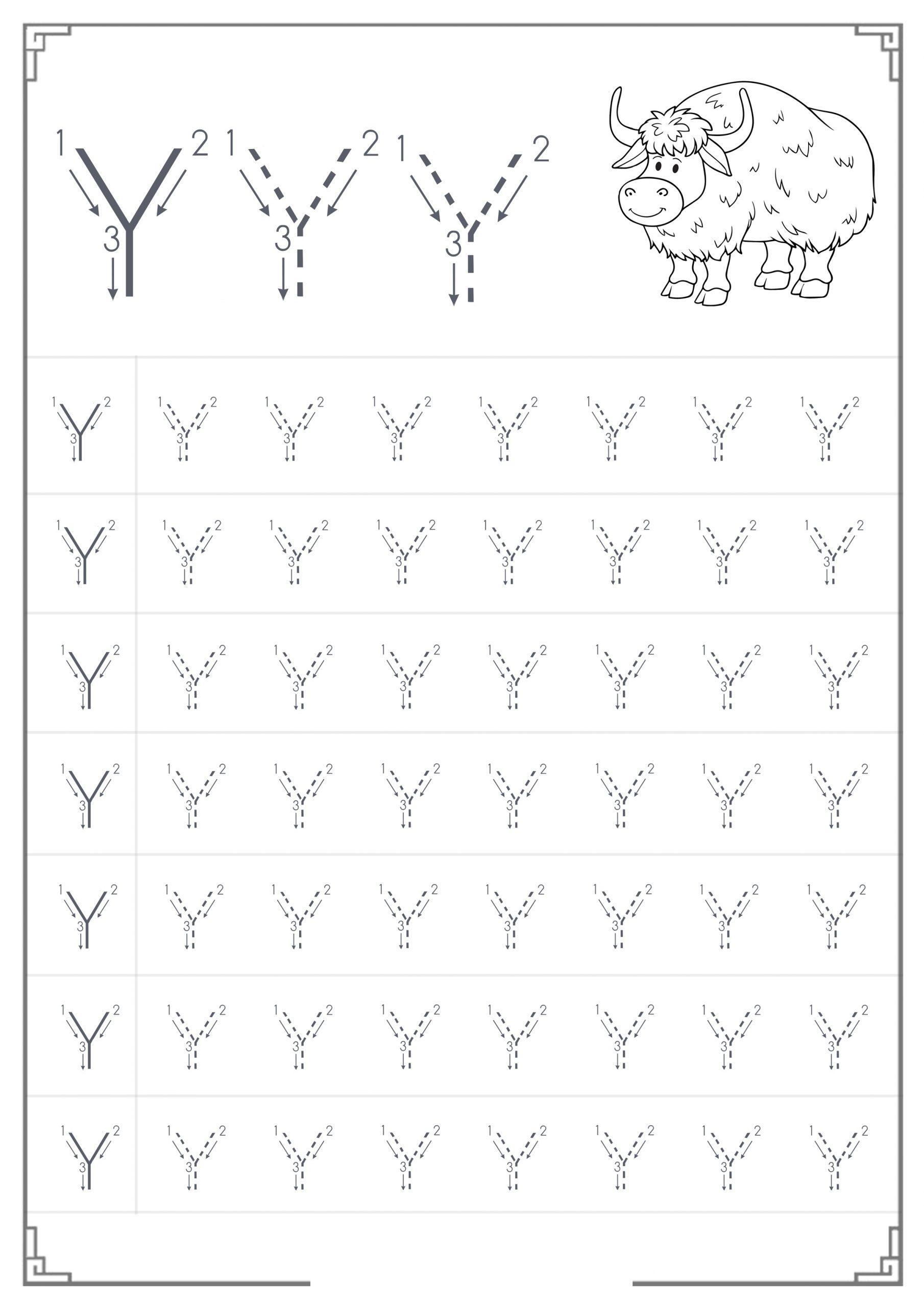 Letter Y Worksheet Tracing