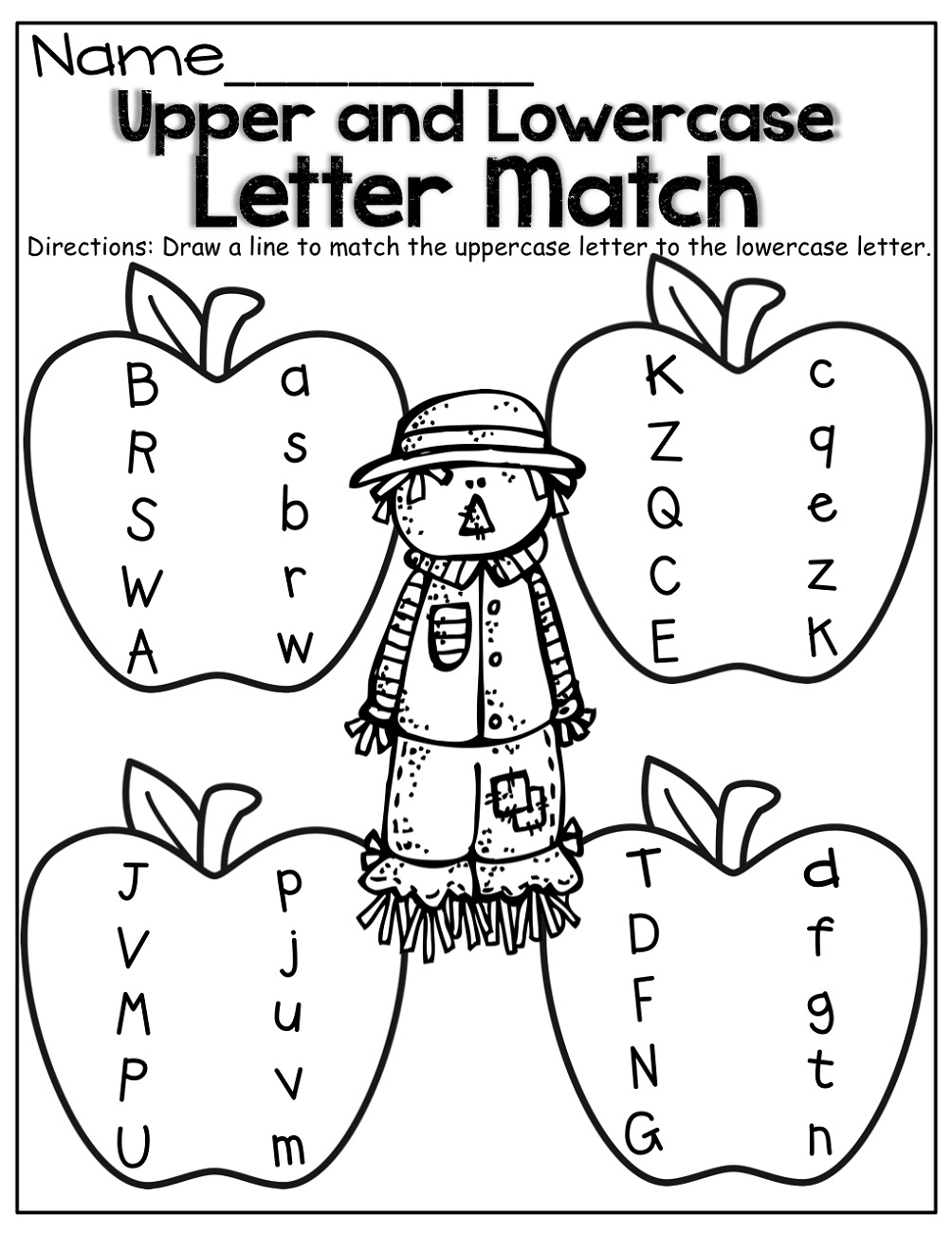 Matching Uppercase and Lowercase Alphabet