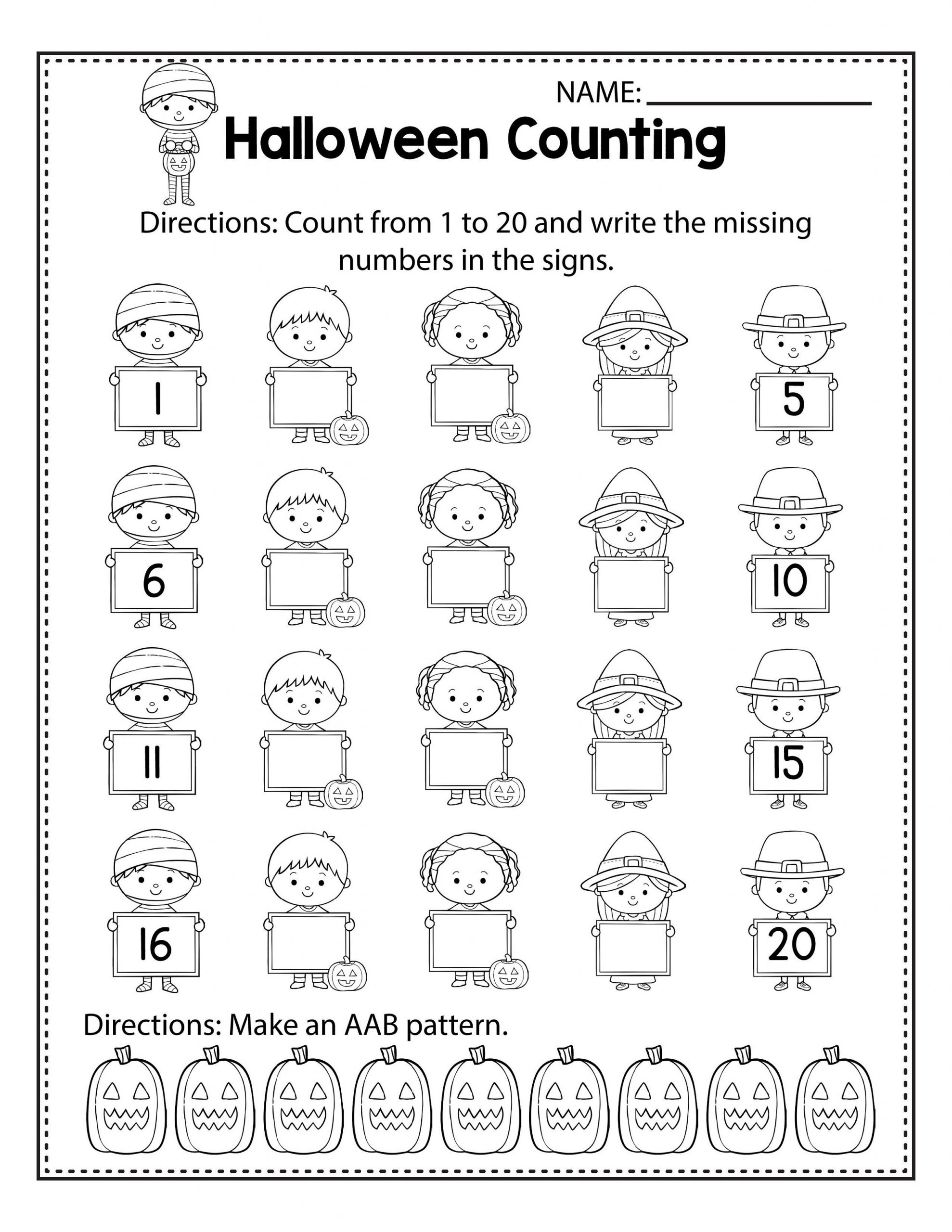 Math Halloween Activities for Kids