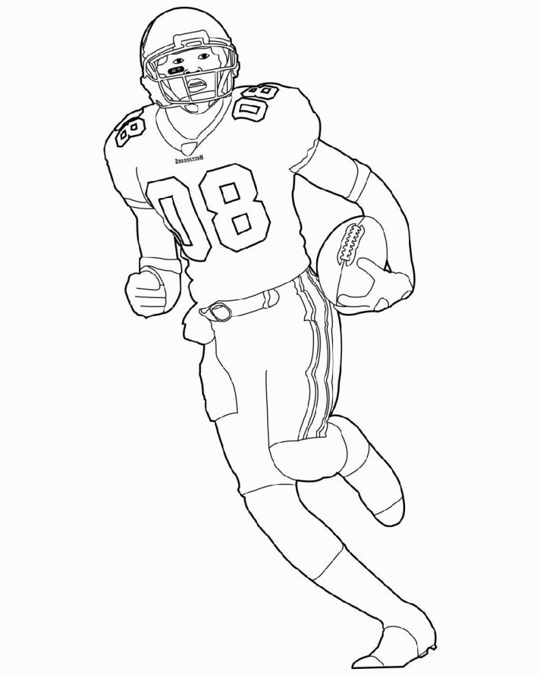 Player Football Coloring Pages