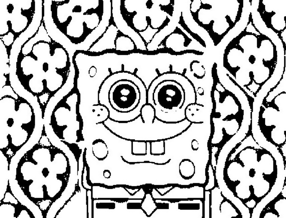 Smiling Spongebob Coloring Pages